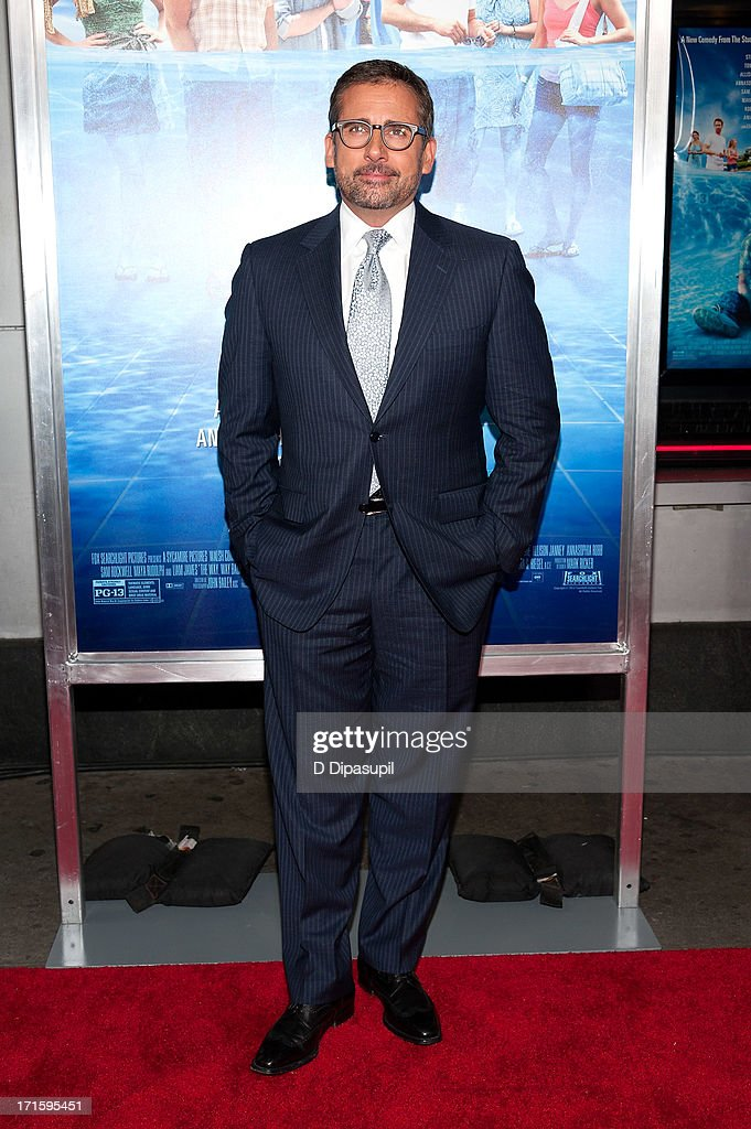 <a gi-track='captionPersonalityLinkClicked' href=/galleries/search?phrase=Steve+Carell&family=editorial&specificpeople=595491 ng-click='$event.stopPropagation()'>Steve Carell</a> attends 'The Way, Way Back' premiere at AMC Loews Lincoln Square on June 26, 2013 in New York City.