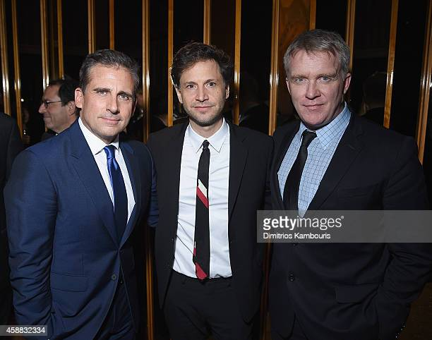 Steve Carell director Bennett Miller and Anthony Michael Hall attend the after party for Sony Pictures Classics screening of 'Foxcatcher' hosted by...