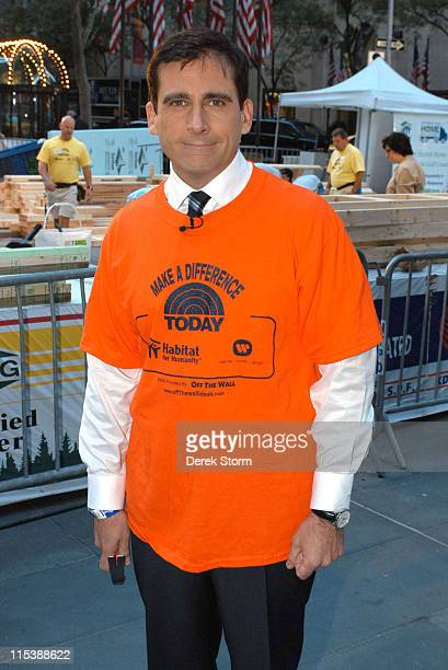 Steve Carell during Celebrities Volunteer on the 'Today' Show for 'Make A Difference Today' to Benefit Habitat for Humanity September 27 2005 at...