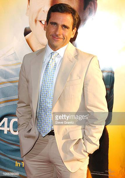 Steve Carell during 'The 40YearOld Virgin' Los Angeles Premiere Arrivals at ArcLight Theatre in Hollywood California United States