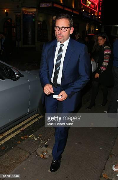 Steve Carell leaving the Ivy restaurant on October 16 2014 in London England