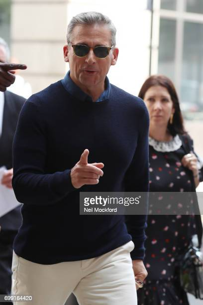 Steve Carell seen at BBC Radio One promoting his new movie 'Despicable Me 3' on June 21 2017 in London England