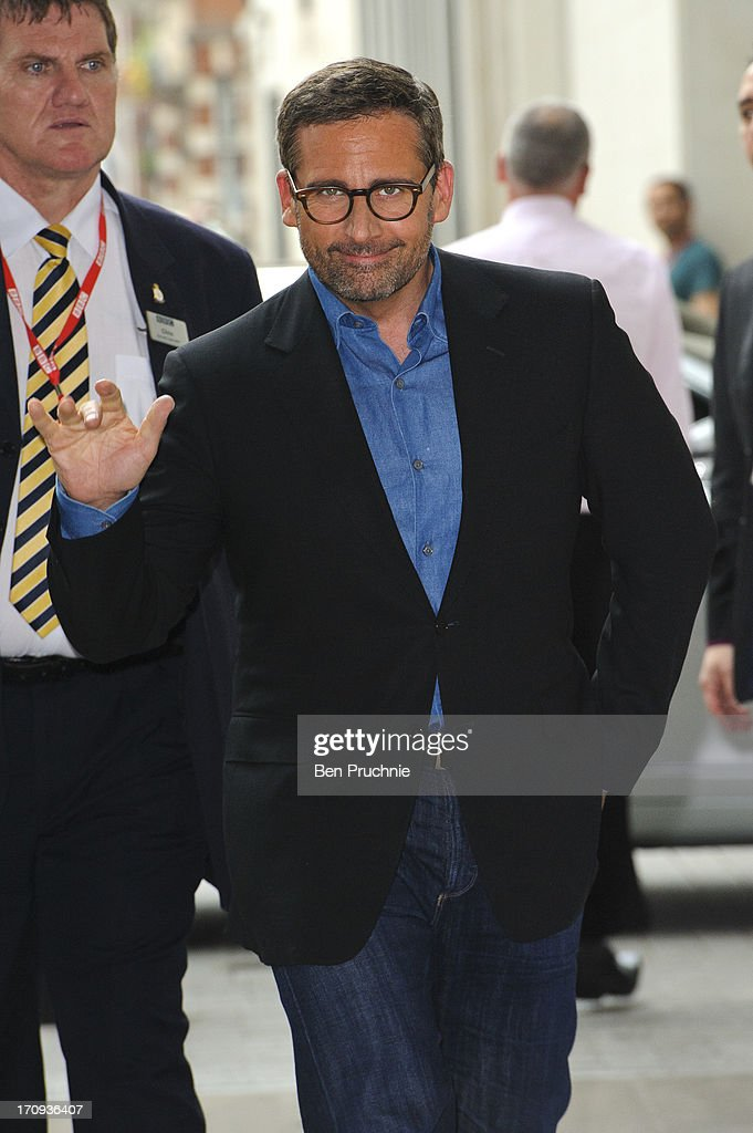 <a gi-track='captionPersonalityLinkClicked' href=/galleries/search?phrase=Steve+Carell&family=editorial&specificpeople=595491 ng-click='$event.stopPropagation()'>Steve Carell</a> sighted at BBC Radio Studios on June 20, 2013 in London, England.