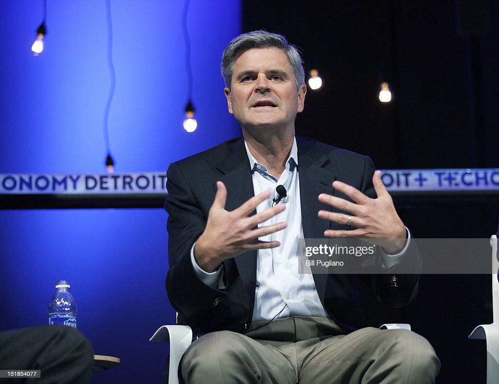 <a gi-track='captionPersonalityLinkClicked' href=/galleries/search?phrase=Steve+Case&family=editorial&specificpeople=214603 ng-click='$event.stopPropagation()'>Steve Case</a>, Chairman and CEO of Revolution LLC and co-founder of America On Line, speaks at TECHONOMYDETROIT September 12, 2012 in Detroit, Michigan. The event, hosted by the Detroit Economic Club, is a one-day multidisciplinary gathering of national and local leaders about reigniting U.S. competitiveness, creating jobs, and revitalizing our cities in a technologized age.