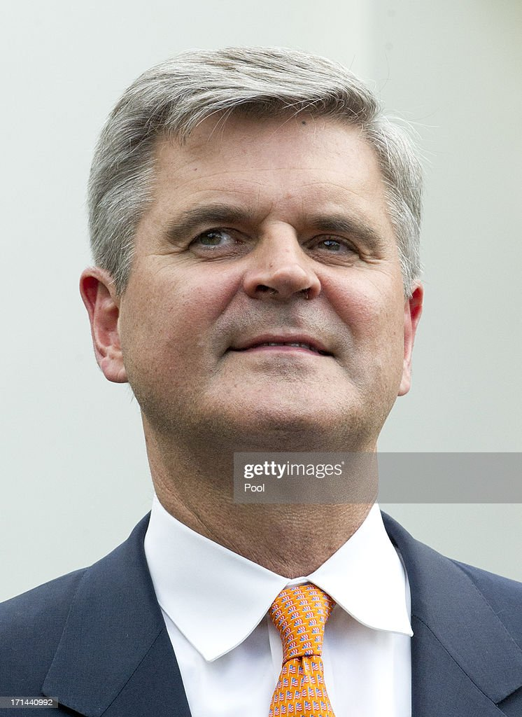 <a gi-track='captionPersonalityLinkClicked' href=/galleries/search?phrase=Steve+Case&family=editorial&specificpeople=214603 ng-click='$event.stopPropagation()'>Steve Case</a>, Chairman and CEO, Revolution, Co-Founder, America Online, Chairman, The Case Foundation attends a press conference outside the Diplomatic Entrance of the White House following is meeting with United States President Barack Obama and other CEOs, business owners, and entrepreneurs to discuss the importance of commonsense immigration reform June 24, 2013 in Washington, DC. Obama met with a collection of business leaders who immigrated to the United States and went on to found successful companies in order to gain support to overhaul the nations immigration system.