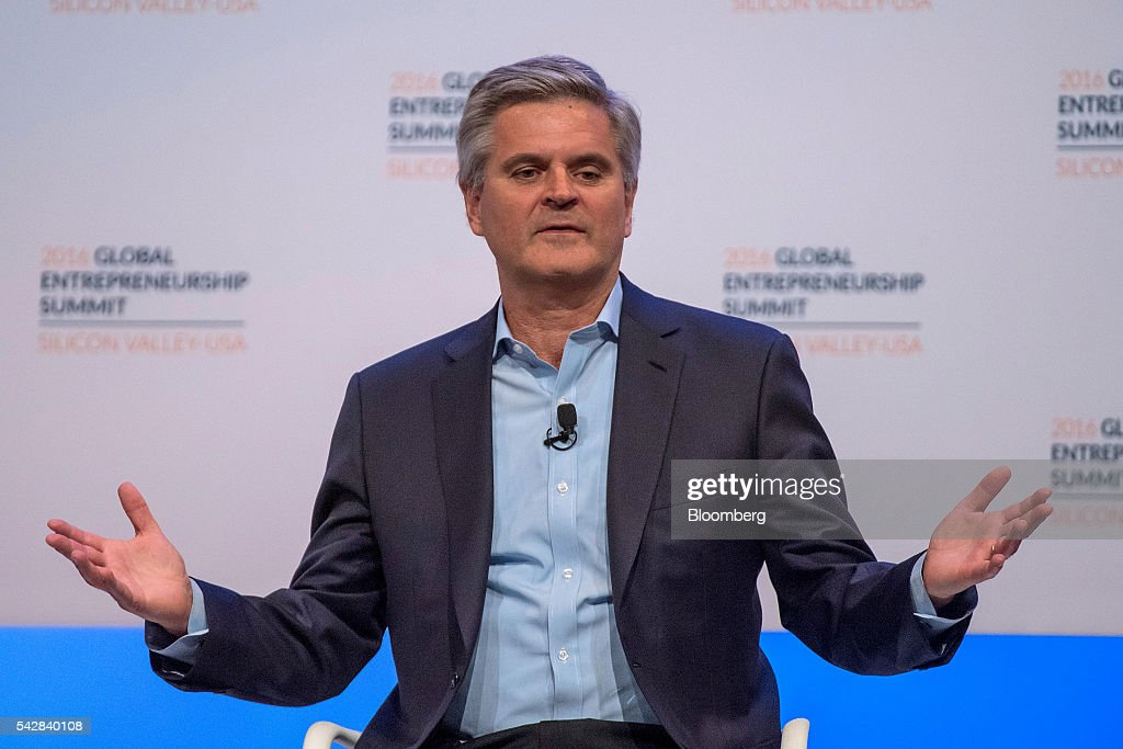 Steve Case, chairman and chief executive officer of Revolution LLC, speaks during the 2016 Global Entrepreneurship Summit (GES) at Stanford University in Stanford, California, U.S., on Friday, June 24, 2016. The annual event brings together entrepreneurs from around the world for 3 days of networking, workshops and conferences. Photographer: David Paul Morris/Bloomberg via Getty Images