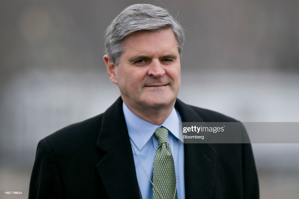 Steve Case, chief executive officer of Revolution LLC, arrives to the White House to meet with U.S. President Barack Obama in Washington, D.C., U.S., on Tuesday, Feb. 5, 2013. U.S. Obama urged Congress to postpone automatic spending cuts scheduled to begin March 1 to avoid 'real and lasting impacts' on U.S. economic growth. Photographer: Andrew Harrer/Bloomberg via Getty Images
