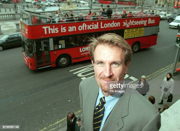 Steve Chandler Communication Director of Greenergy at Trafalgar Square where tour buses use Greenergy 'City Diesel' a low emission fuel The new...