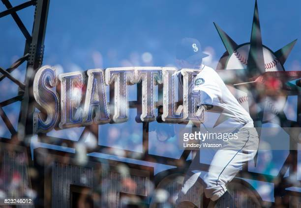 Steve Cishek of the Seattle Mariners delivers a pitch against the Boston Red Sox in the ninth inning at Safeco Field on July 26 2017 in Seattle...