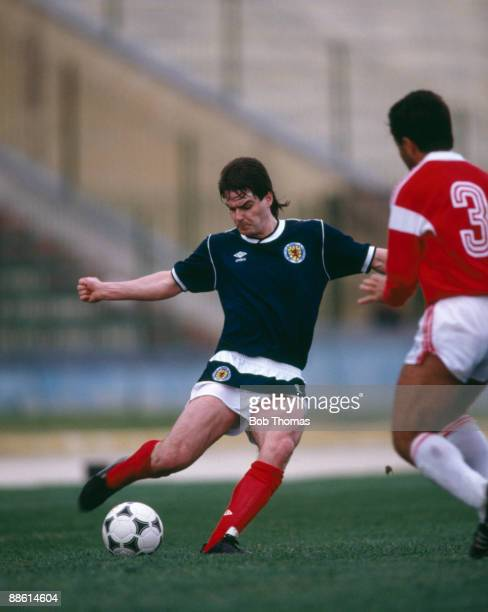 Steve Clarke of Scotland during the Malta v Scotland Friendly International match held in Valetta Malta on the 22nd March 1988
