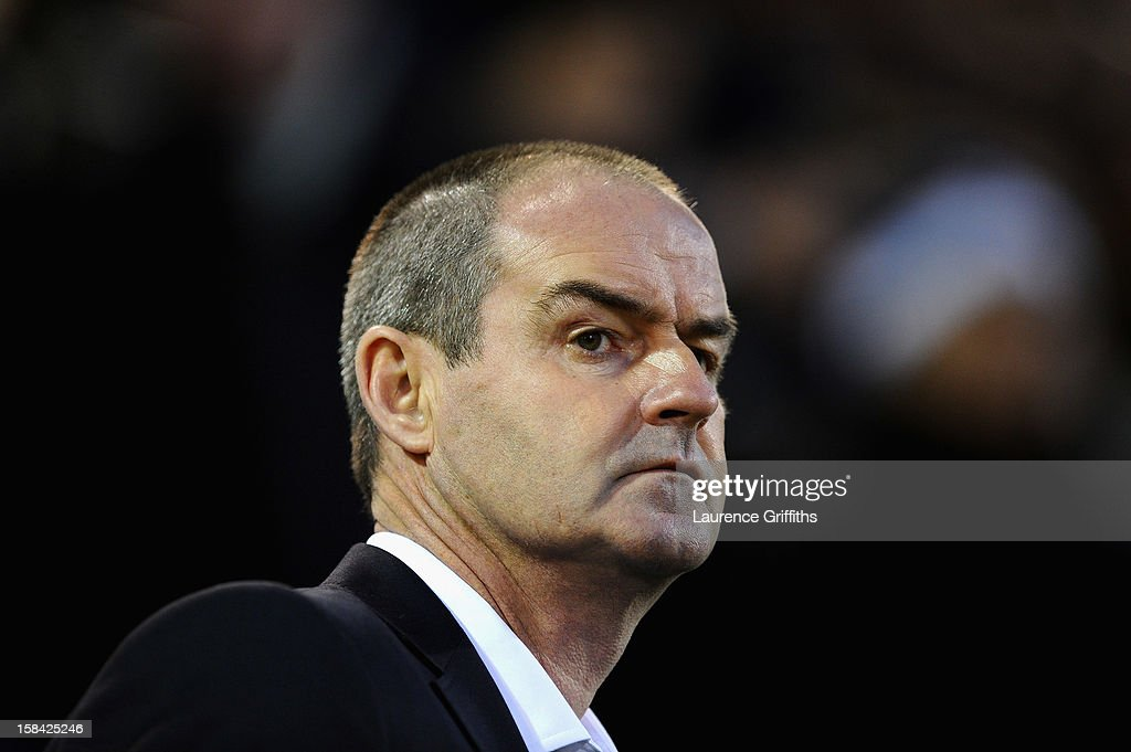 Steve Clarke of West Bromwich Albion looks on during the Barclays Premiership match between West Bromwich Albion and West Ham United at The Hawthorns on December 16, 2012 in West Bromwich, England.