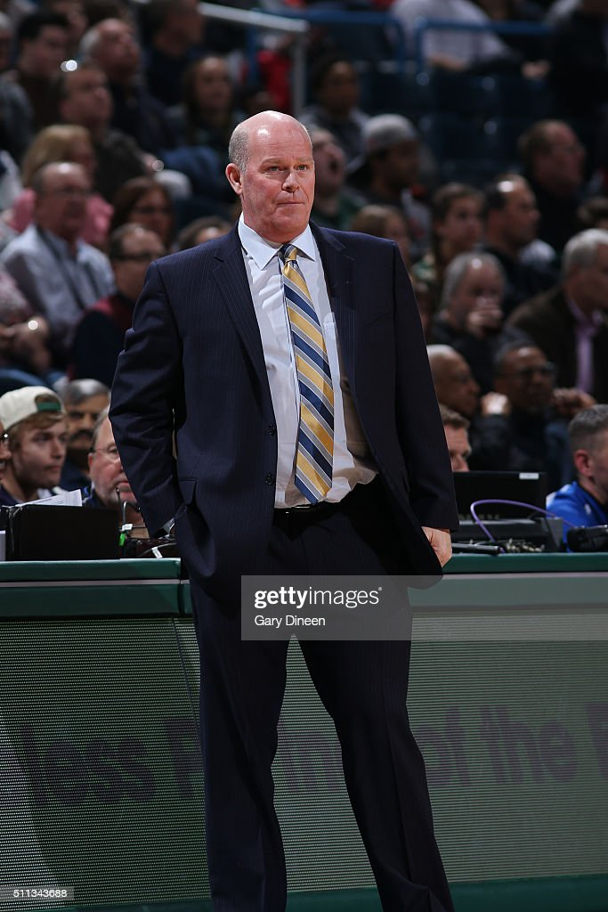 Steve Clifford of the Charlotte Hornets coaches against the Milwaukee Bucks on February 19 2016 at the BMO Harris Bradley Center in Milwaukee...