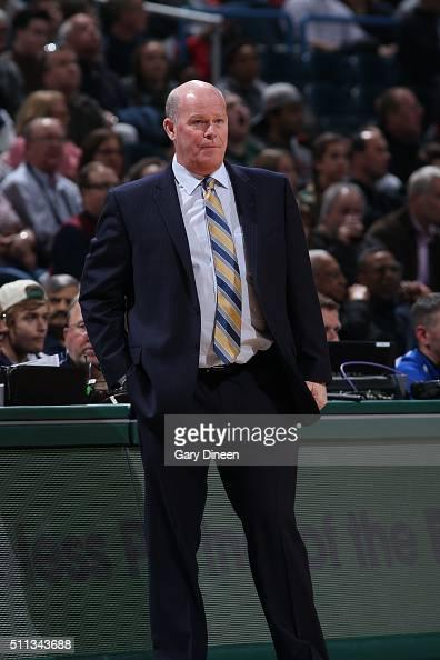 Steve Clifford of the Charlotte Hornets coaches against the Milwaukee Bucks on February 19 2016 at the BMO Harris Bradley Center in Milwaukee...