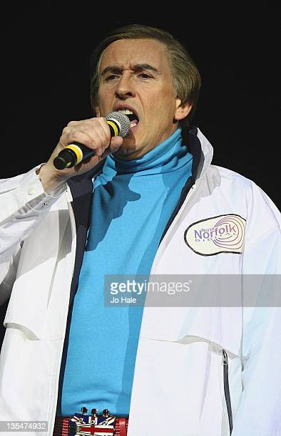 Steve Coogan aka Alan Partridge performs at Under 1 Roof for Youth Charity Kids Company at O2 Arena on December 10 2011 in London England