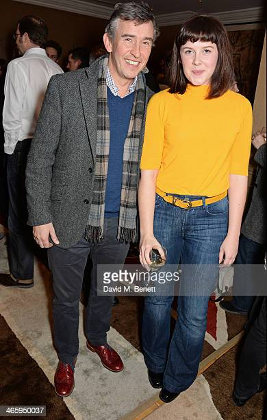 Steve Coogan and Alexandra Roach attend a drinks reception and private screening of BAFTA and Oscar nominated film 'Philomena' hosted by Harvey...