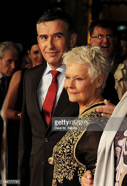 Steve Coogan and Dame Judi Dench attend the American Express Gala Screening of 'Philomena' during the 57th BFI London Film Festival at Odeon...