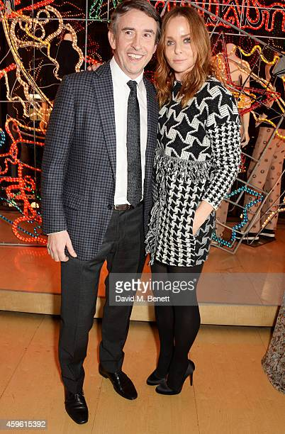 Steve Coogan and Stella McCartney attend the Stella McCartney Christmas Lights Switch On at the Stella McCartney Bruton Street Store on November 26...