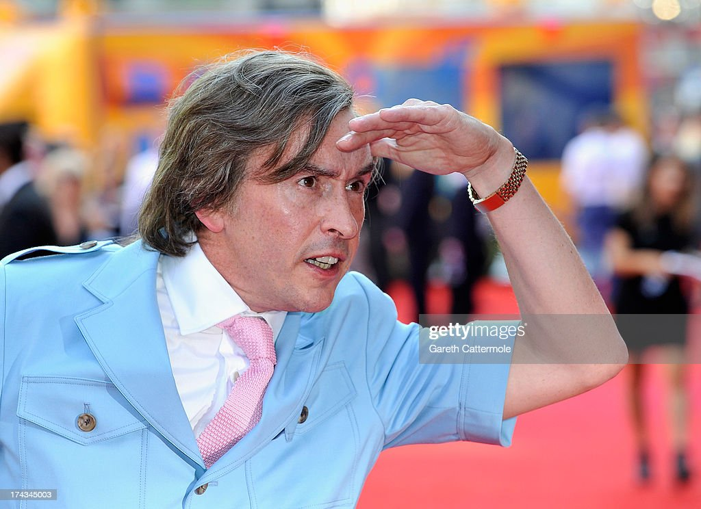 <a gi-track='captionPersonalityLinkClicked' href=/galleries/search?phrase=Steve+Coogan&family=editorial&specificpeople=204648 ng-click='$event.stopPropagation()'>Steve Coogan</a> arrives as Alan Partridge as he attends the London Premiere of 'Alan Partidge: Alpha Papa' at Vue Leicester Square on July 24, 2013 in London, England.