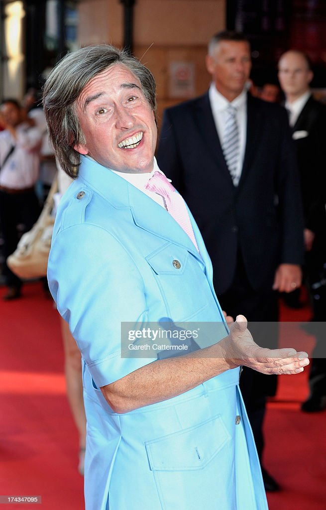 Steve Coogan arrives in character as Alan Partridge as he attends the London Premiere of 'Alan Partidge: Alpha Papa' at Vue Leicester Square on July 24, 2013 in London, England.