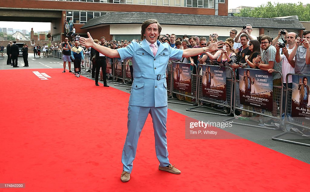 <a gi-track='captionPersonalityLinkClicked' href=/galleries/search?phrase=Steve+Coogan&family=editorial&specificpeople=204648 ng-click='$event.stopPropagation()'>Steve Coogan</a> as Alan Partridge attends the 'Alan Partridge: Alpha Papa' World Premiere Day at Hollywood Cinema Norwich on July 24, 2013 in London, England.