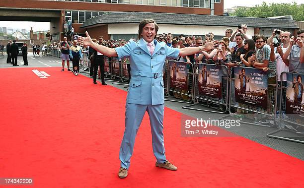 Steve Coogan as Alan Partridge attends the 'Alan Partridge Alpha Papa' World Premiere Day at Hollywood Cinema Norwich on July 24 2013 in London...