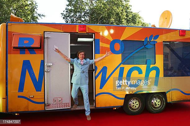 Steve Coogan as Alan Partridge attends the 'Alan Partridge Alpha Papa' World Premiere Day at Vue Leicester Square on July 24 2013 in London England