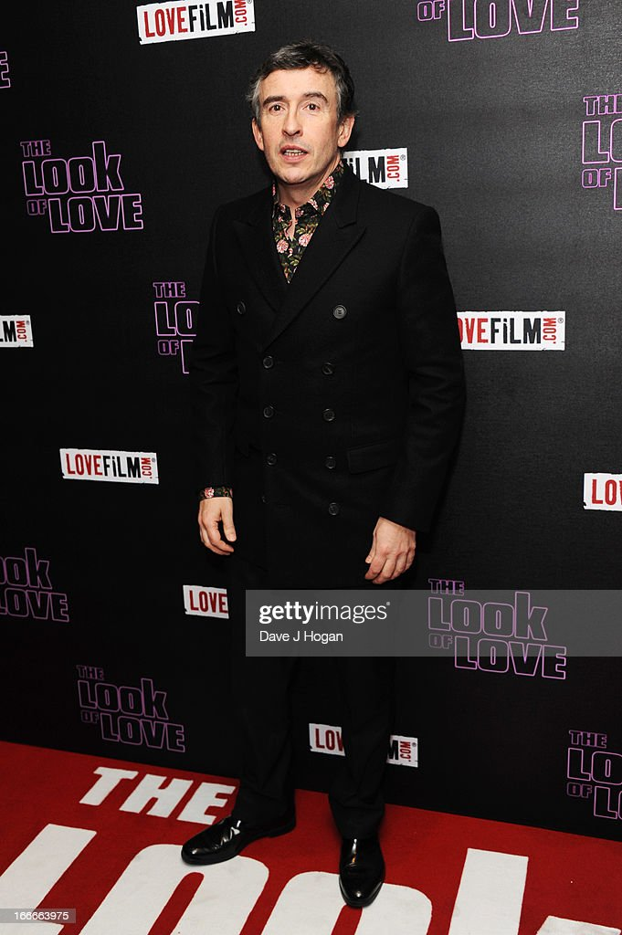 Steve Coogan attends the UK premiere of 'The Look Of Love' at The Curzon Soho on April 15 2013 in London England