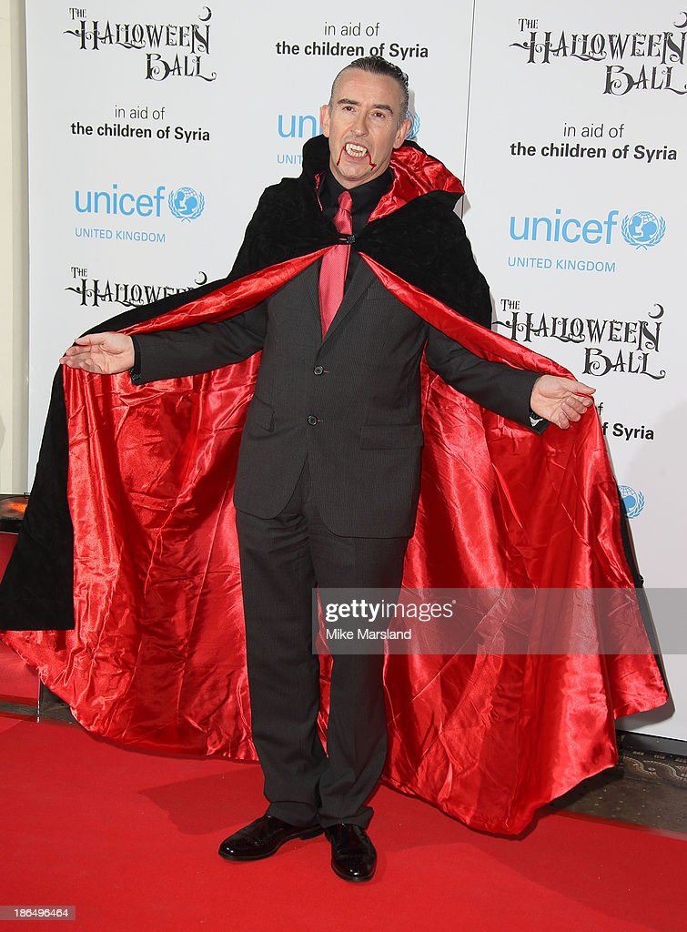 <a gi-track='captionPersonalityLinkClicked' href=/galleries/search?phrase=Steve+Coogan&family=editorial&specificpeople=204648 ng-click='$event.stopPropagation()'>Steve Coogan</a> attends The UNICEF Halloween Ball at One Mayfair on October 31, 2013 in London, England.