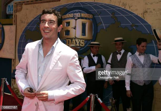 Steve Coogan during 'Around the World in 80 Days' Los Angeles Premiere Red Carpet at The El Capitan Theatre in Hollywood California United States