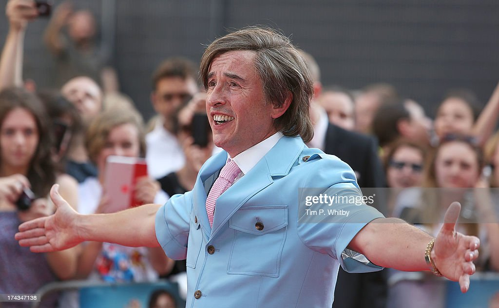 <a gi-track='captionPersonalityLinkClicked' href=/galleries/search?phrase=Steve+Coogan&family=editorial&specificpeople=204648 ng-click='$event.stopPropagation()'>Steve Coogan</a> in character as Alan Partridge attends the 'Alan Partridge: Alpha Papa' World Premiere Day at Vue Leicester Square on July 24, 2013 in London, England.