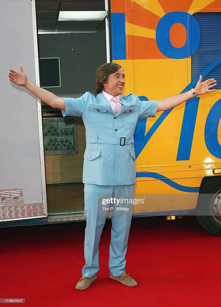 Steve Coogan in character as Alan Partridge attends the 'Alan Partridge: Alpha Papa' World Premiere Day at Vue Leicester Square on July 24, 2013 in London, England.