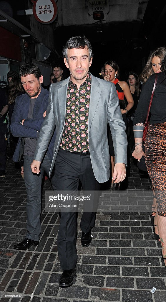 Steve Coogan sighting leaving The Box where he attended the after party following the premiere of The Look of Love on April 15, 2013 in London, England.