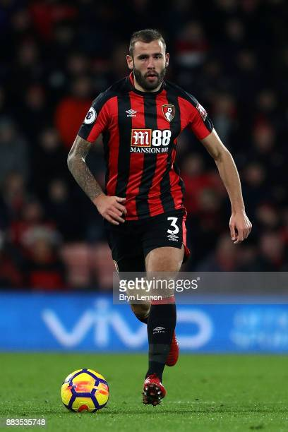 Steve Cook of AFC Bournemouth in action during the Premier League match between AFC Bournemouth and Burnley at Vitality Stadium on November 29 2017...
