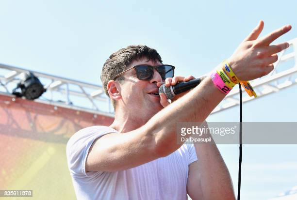 Steve Cooper of Spirit Animal performs during Day One of 2017 Billboard Hot 100 Festival at Northwell Health at Jones Beach Theater on August 19 2017...