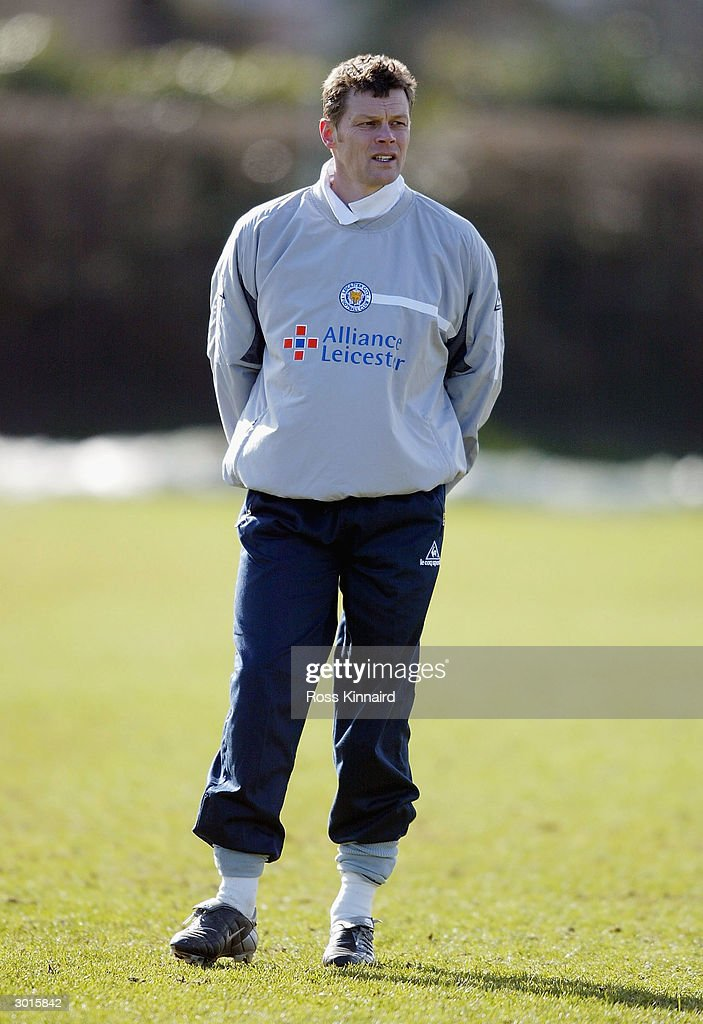 Steve Cotterill coach at Leicester City looks on during the teams training session at the Blevoir Drive training ground on February 26, 2004 in Leicester, England.