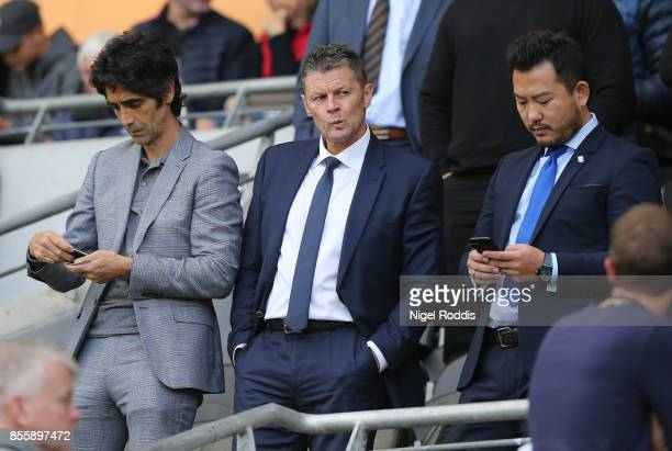 Steve Cotterill new manager of Birmingham City during the Sky Bet Championship match between Hull City and Birmingham City at KCOM Stadium on...