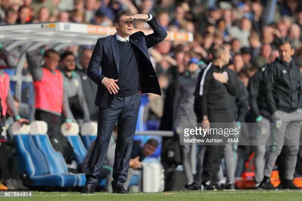 Steve Cotterill the head coach / manager of Birmingham City during the Sky Bet Championship match between Birmingham City and Aston Villa at St...