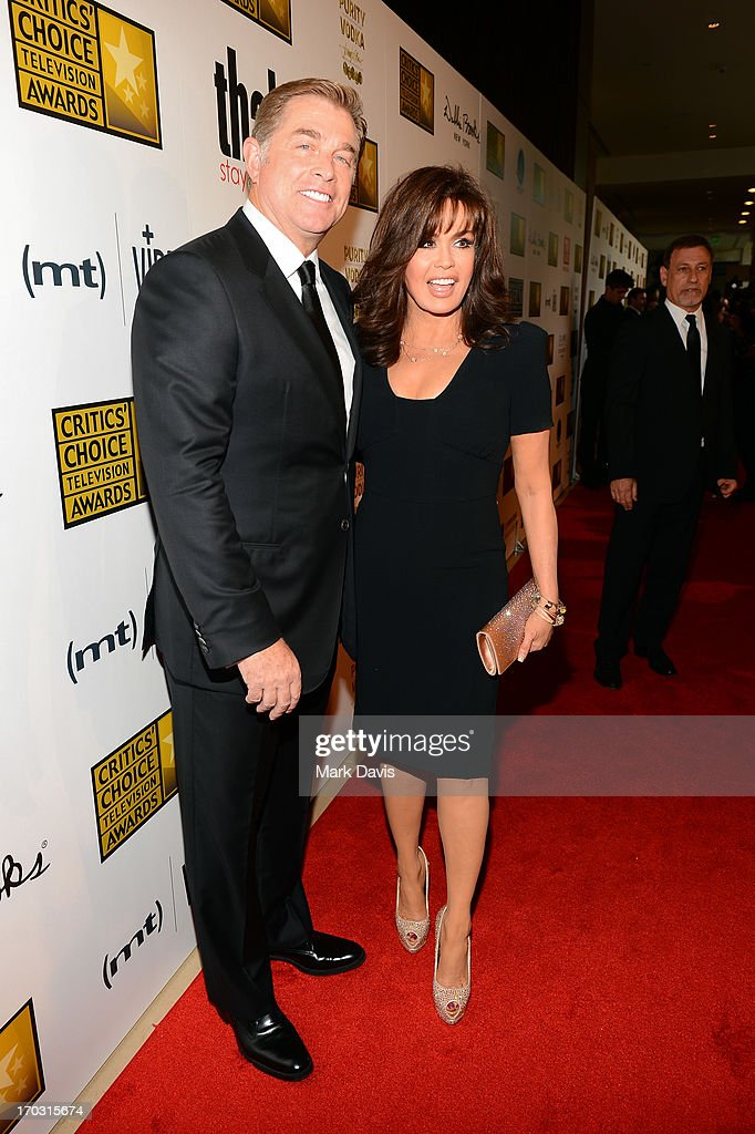Steve Craig and Marie Osmond arrive at Broadcast Television Journalists Association's third annual Critics' Choice Television Awards at The Beverly Hilton Hotel on June 10, 2013 in Los Angeles, California.