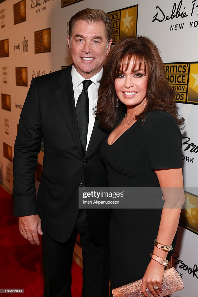 Steve Craig (L) and singer <a gi-track='captionPersonalityLinkClicked' href=/galleries/search?phrase=Marie+Osmond&family=editorial&specificpeople=217477 ng-click='$event.stopPropagation()'>Marie Osmond</a> attend the Critics' Choice Television Awards at The Beverly Hilton Hotel on June 10, 2013 in Beverly Hills, California.