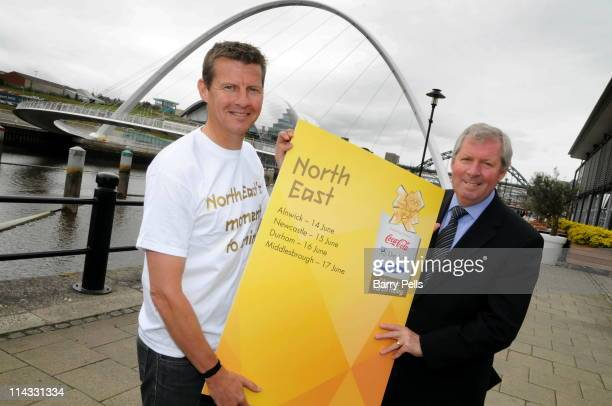 Steve Cram and Brendan Foster mark the announcement of the first locations to be confirmed on the London 2012 Olympic Torch Relay route and the...