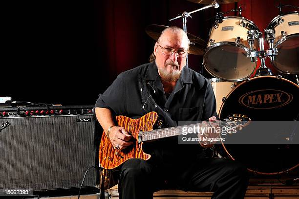 Steve Cropper poses for a portrait shoot with his Signature Peavey Cropper Classic guitar Milton Keynes September 13 2011