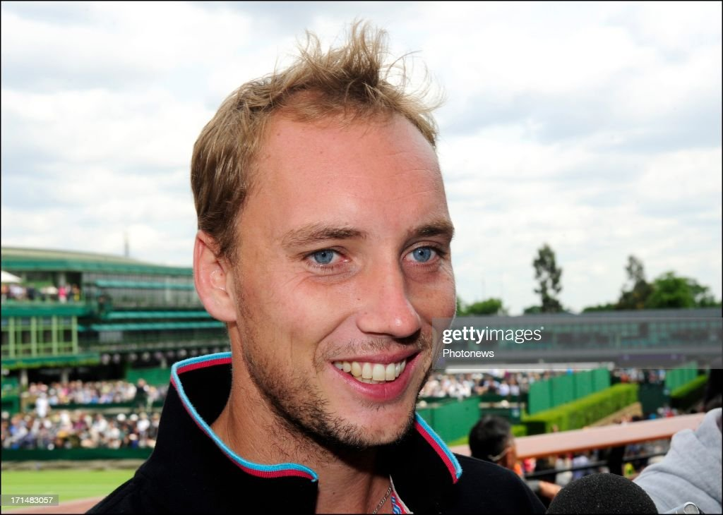 Steve Darcis of Belgium pictured the day after his victory against Nadal on day one of Wimbledon on 25 June, 2013 in London, England.