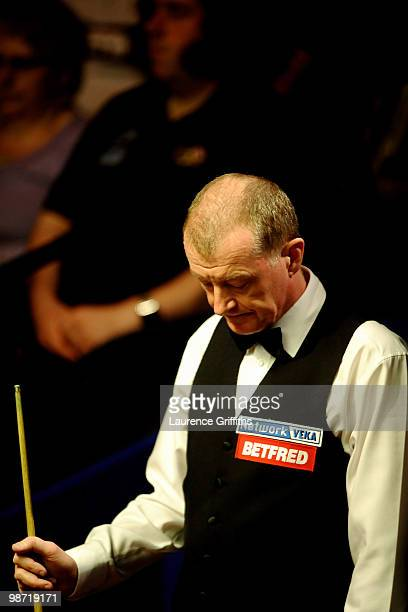 Steve Davis of England shows his dissapointment against Neil Robertson of Australia during the Quarter Finals of the Betfredcom World Snooker...
