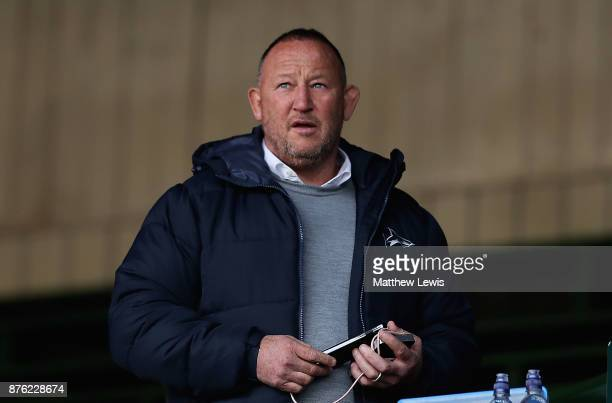 Steve Diamond Director of Rugby of Sale Sharks looks on from the stands ahead of the Aviva Premiership match between Leicester Tigers and Sale Sharks...