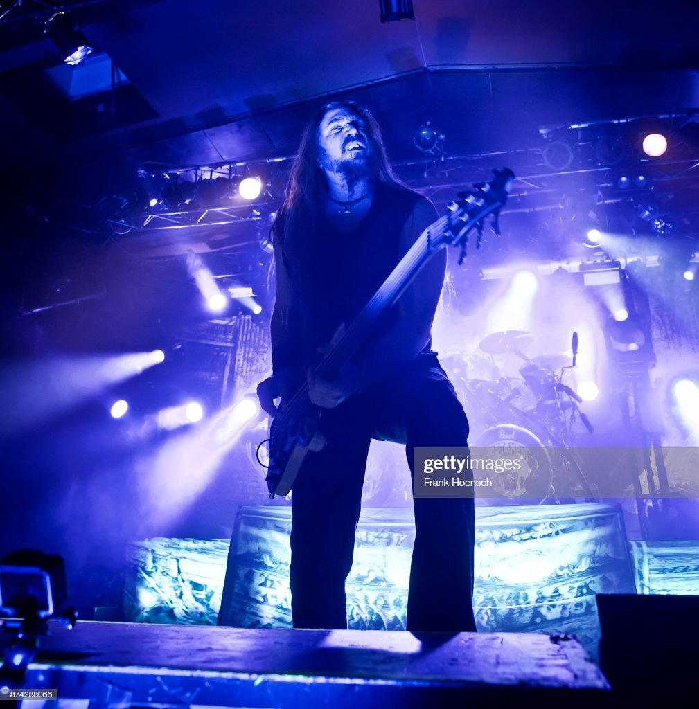 Steve DiGiorgio of the American band Testament performs live on stage during a concert at the Astra on November 14, 2017 in Berlin, Germany.