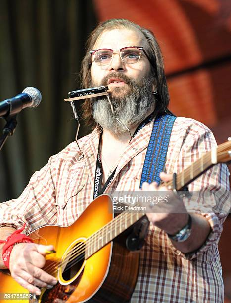 Steve Earle performs at the Farm Aid concert at the Comcast Center in Mansfield