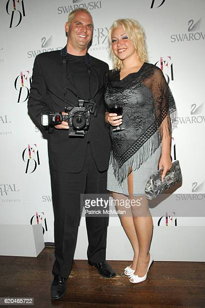 Steve Eichner and Amanda Covetskie attend NADJA SWAROVSKI Hosts 2008 CFDA FASHION AWARDS Cocktail Celebration at Norwood on June 1 2008 in New York...