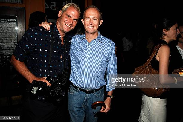 Steve Eichner and Mark Gilbertson attend THE CINEMA SOCIETY ACLU host the after party for 'TRUMBO' at Tribeca Cinemas on June 16 2008 in New York City