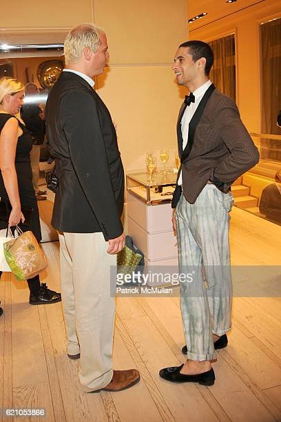 Steve Eichner and Paul Johnson Calderon attend ROGER VIVIER shopping and champagne party hosted by INES DE LA FRESSANGE and The Senior Associates of...