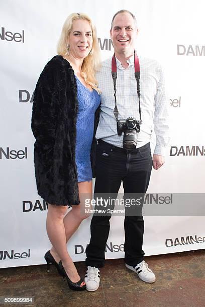 Steve Eichner Daniela Kirsch attend Damnsel 'Garmeoplasty' presentation during Fall 2016 New York Fashion Week on February 12 2016 in New York City